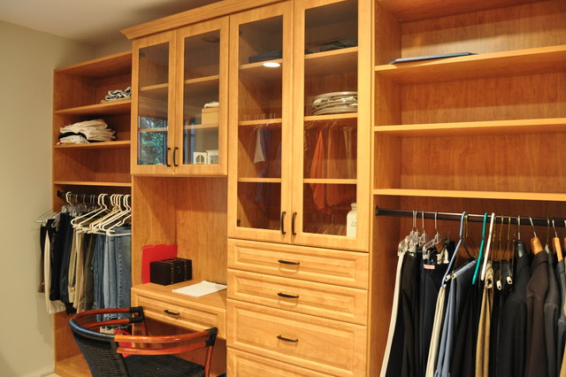 Master Closets - Modern - Closet - dc metro - by Tailored Living feat PremierGarage of Northern VA