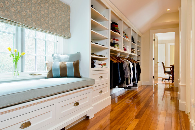 Master suite addition traditional closet boston by for Closet bathroom suites