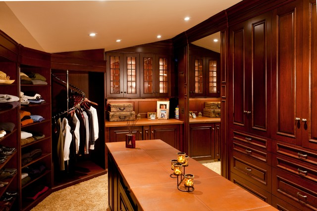 Master suite wing traditional wardrobe boston by for Closet bathroom suites