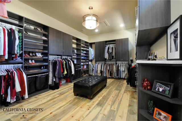 Master Walk In Closet Contemporary Wardrobe