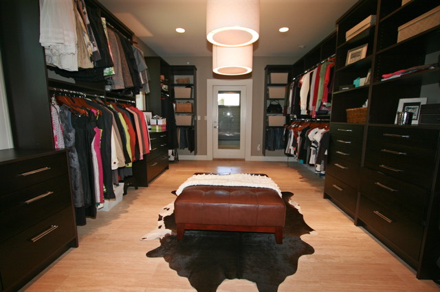 Master walk in closet contemporary closet by taylor - Master walk in closet design ...