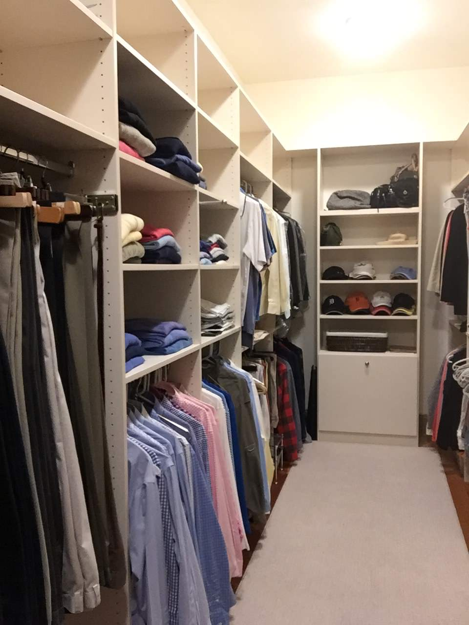 This is our clients finished closet complete and organized. They have made the best use of their space and have room to grow!