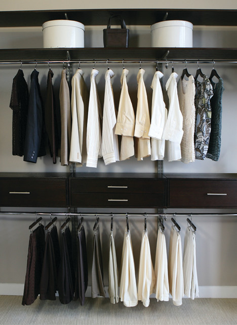 Maximized Space In A Reach Closet Modern