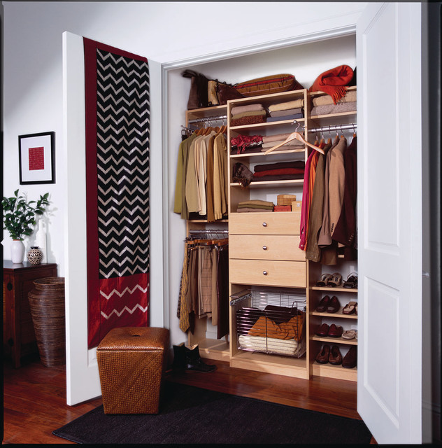 Men's Compact Reach-in Closet, Manhattan, NY traditional-closet