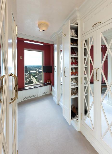 Milwaukee Renaissance  Condo mediterranean-closet