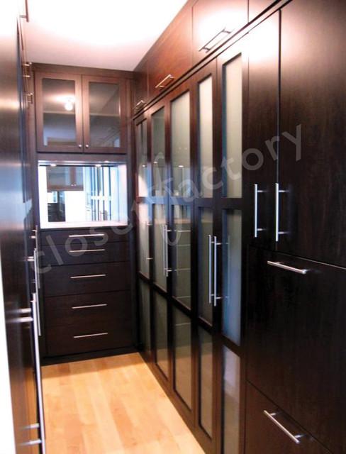 Modern black man's closet miami modern-closet
