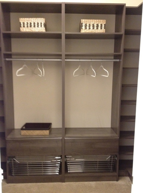 High Quality Example Of A Minimalist Closet Design In Miami
