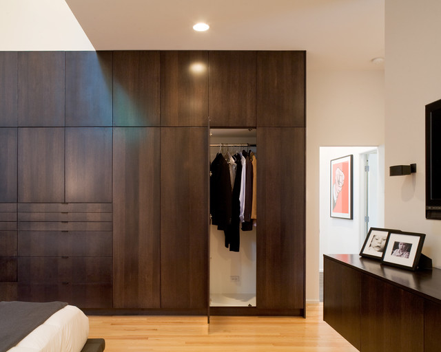 Modern w a side of ranch modern closet kansas city by hufft projects - Bedroom wall closet designs ...