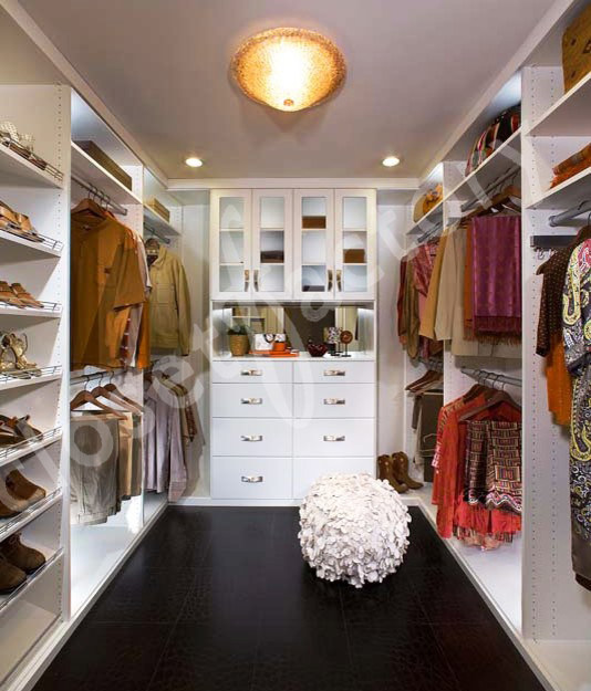 Modern White Walk In Closet Transitional Closet Los