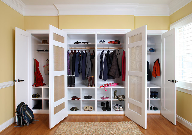 Mud room closet - Storage for bedrooms without closets ...