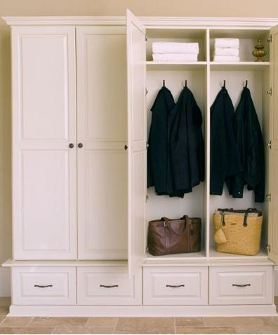 Mudroom cabinets for Entryway lockers with doors