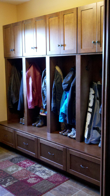 Mudroom Lockers Traditional Closet Minneapolis