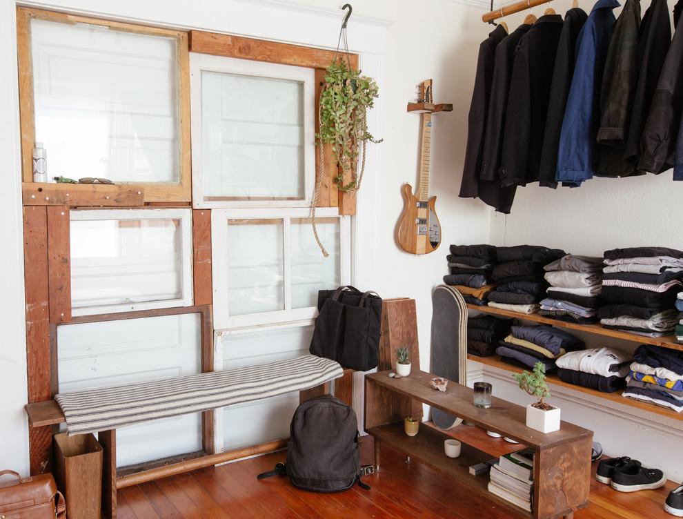 Design ideas for a bohemian wardrobe in San Francisco.