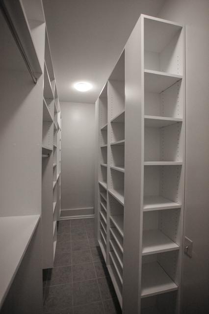 Narrow room walking closet - Contemporary - Closet - atlanta - by Cabinets Of Atlanta Inc.