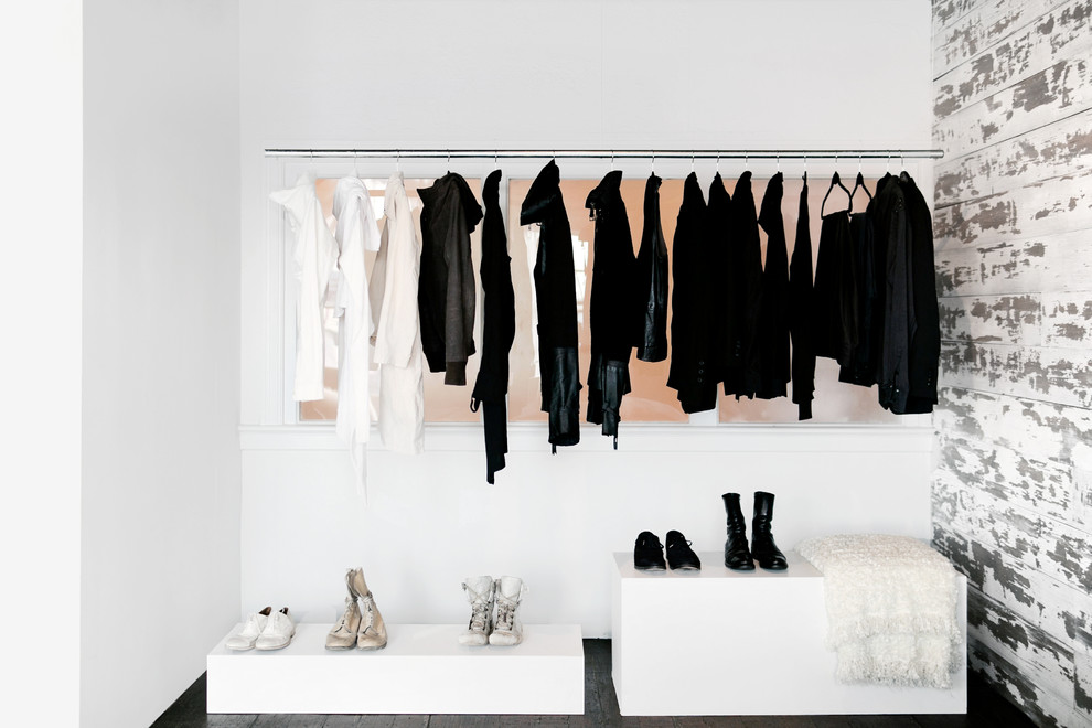 Inspiration for a beach style women's closet remodel in Los Angeles