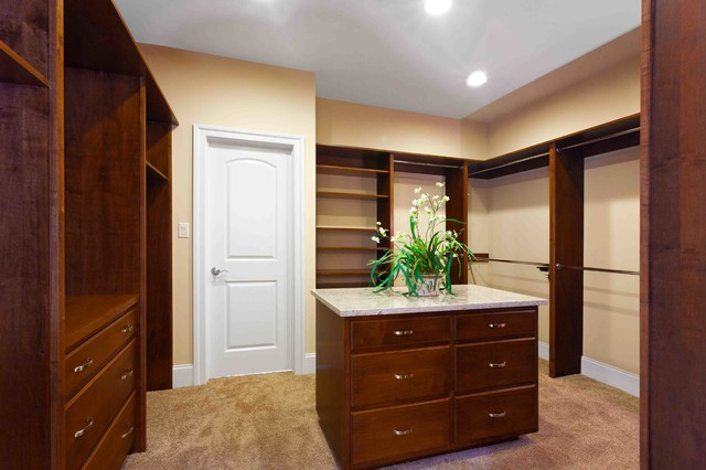 Neoeclectic Custom Home traditional-closet