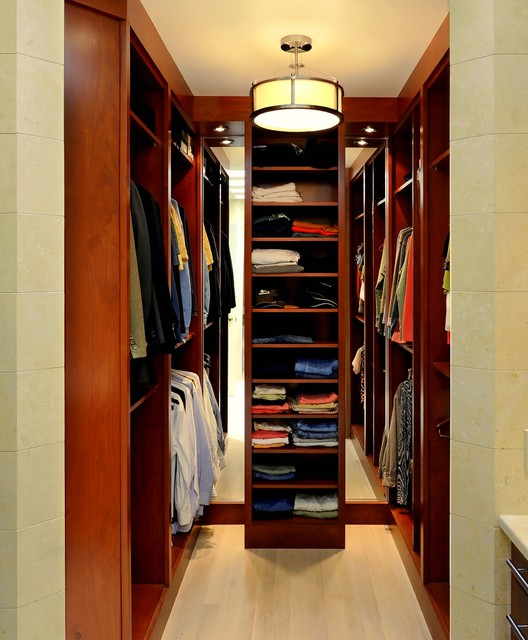 Oakton Master Bath Closet Contemporary