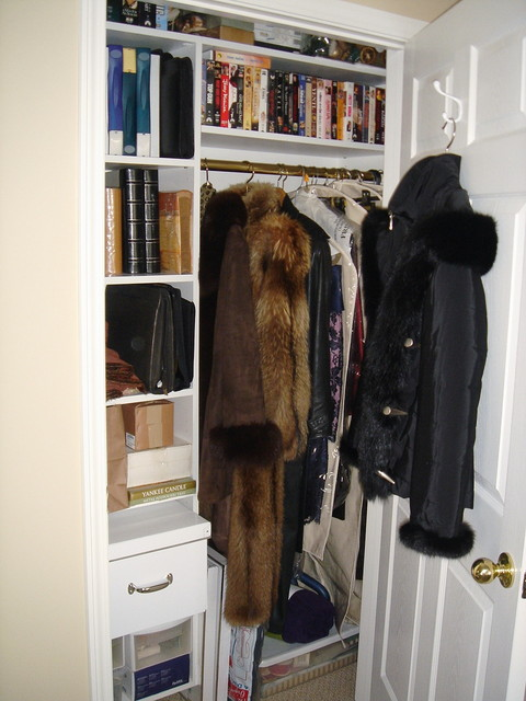 Office Coat Closet Organized Contemporary Closet New York By Andrea Gary Queen Of Kerfuffle