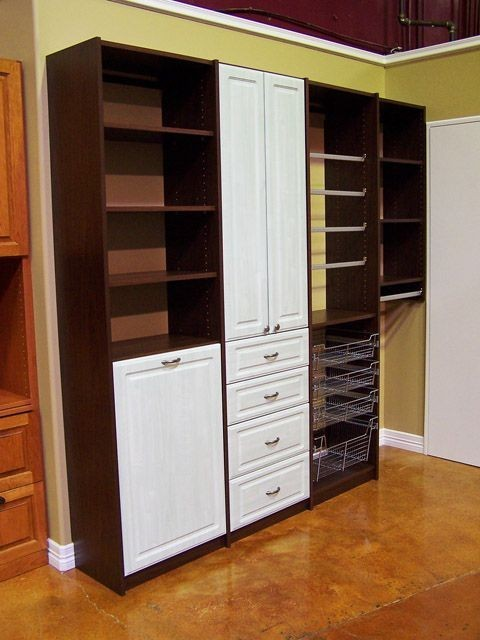 Superior Organize To Go Craft Closet Organizer,Tall Drawers, Baskets, Shelving  Traditional Closet
