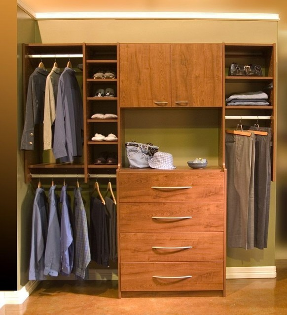 Do It Yourself Home Design: Organize To Go His Reach In Closet Organizer With Drawers