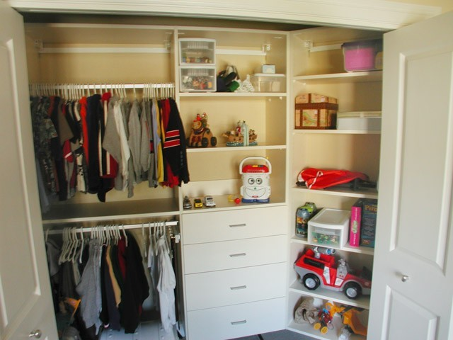 Organize to go toddler reach in closet organizer white drawers shelving traditional