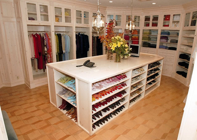 traditional closet Organized Ladies Closet
