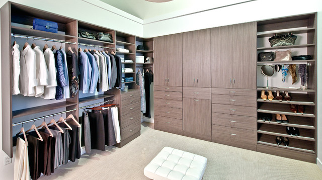 Organized Living Classica Driftwood Live Walk In Closet