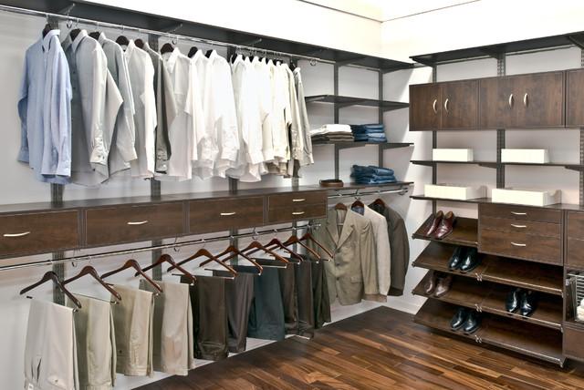 Organized Living FreedomRail Menu0027s Walk In Closet Contemporary Wardrobe