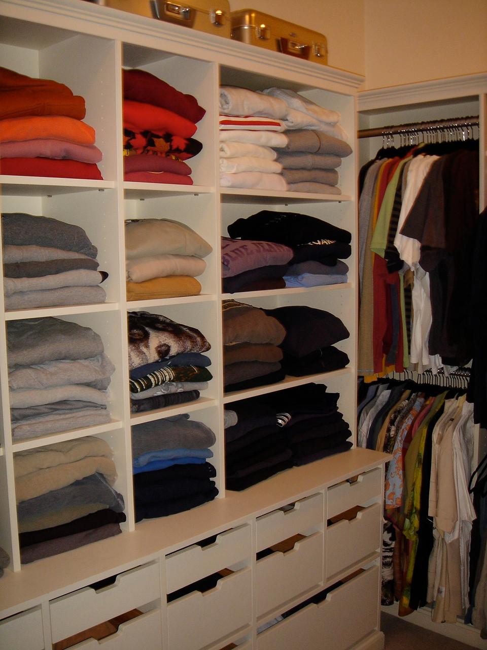 Organized Man's Dressing Room