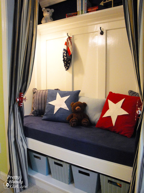 Patriotic Reading Nook traditional closet