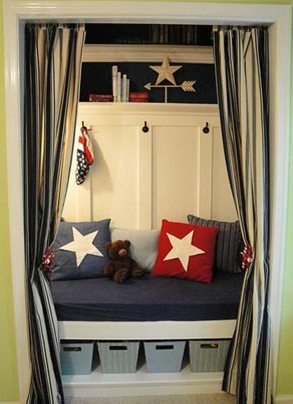 Patriotic Reading Nook traditional-closet