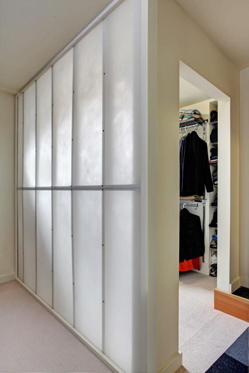 & Translucent closet wall