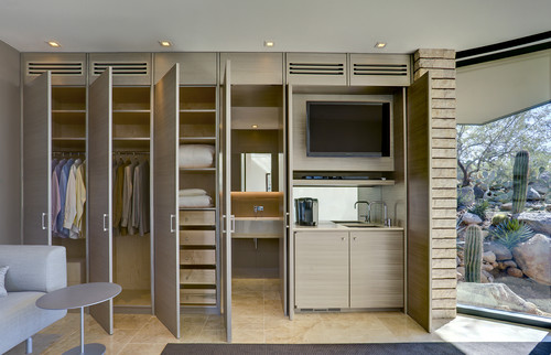 Closet with Coffee Bar and Television
