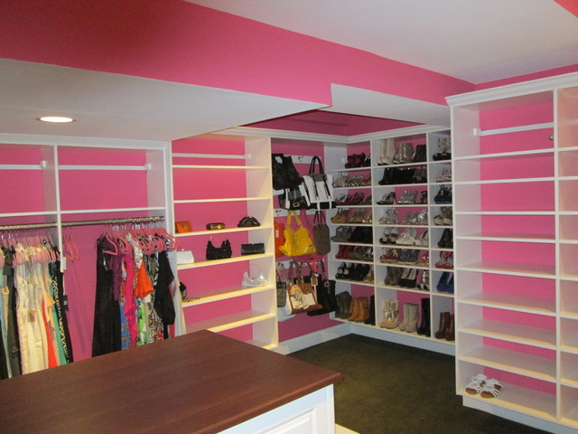 PINK and White Walk In - Traditional - Closet - Bridgeport ...