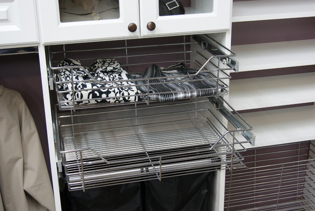 Pull-out Chrome Baskets closet