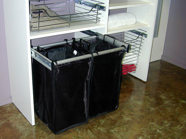 Pull-out Laundry Hamper - Traditional - Closet - Houston ...