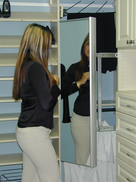 Pull Out Mirror Closet Houston By Spaceman Home Amp Office