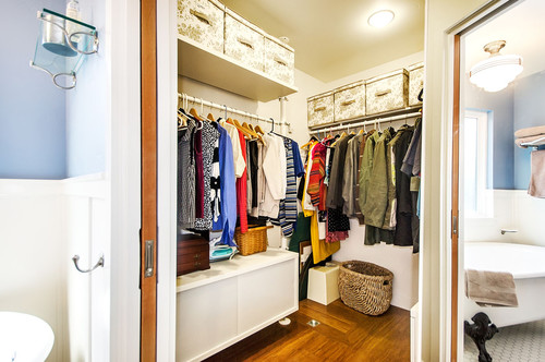 Divide your closet into sections to maximize the space