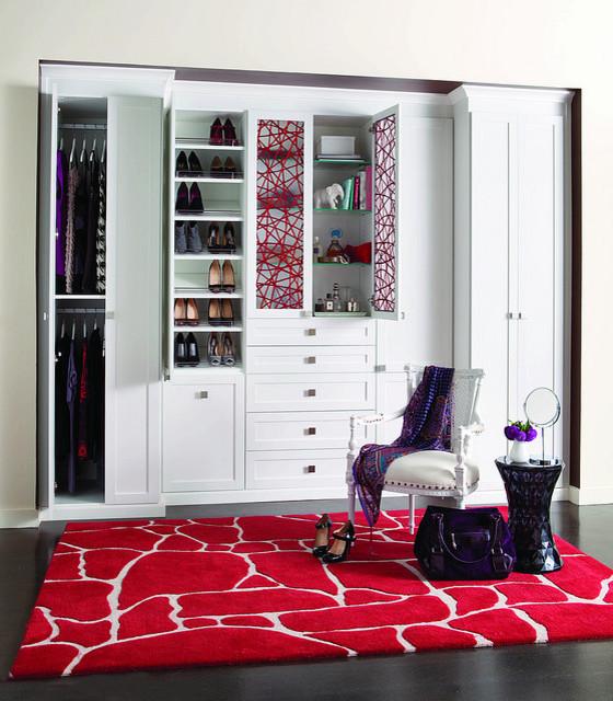 Reach-in closet contemporary-closet