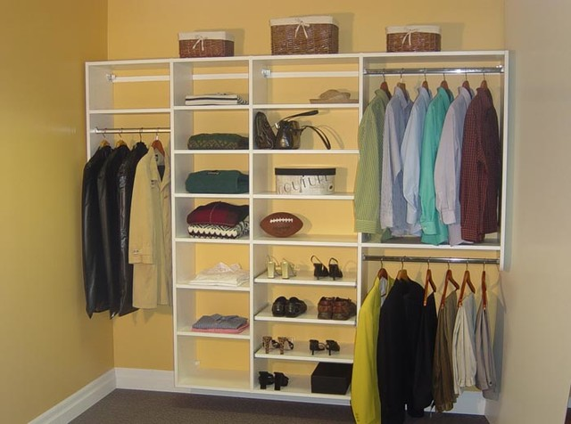 reach in closet in hanging system