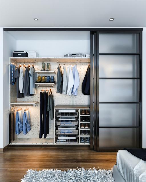 Reach in closet organizers contemporary wardrobe los for Closet design los angeles