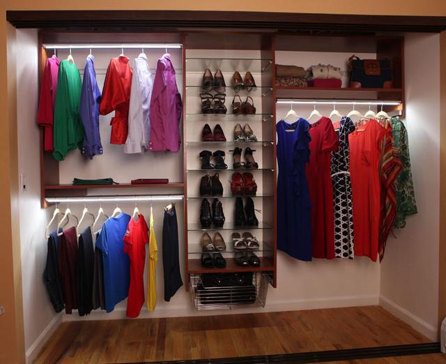 Bon Reach In Closet Remodel Contemporary Closet