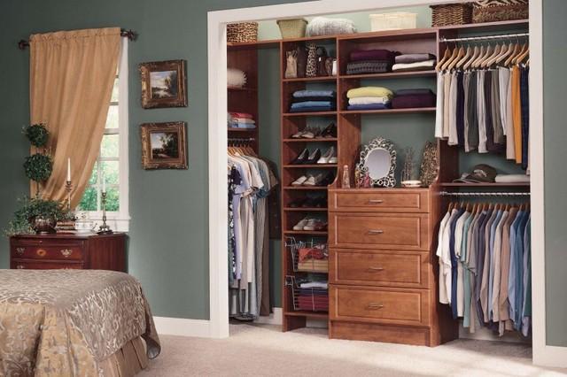 Reach in closets american traditional wardrobe