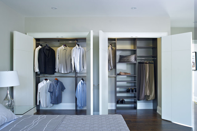 Reachin Double Closet Contemporary Closet