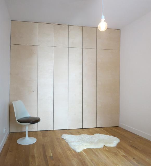 Rénovation d\'un appartement parisien, chambre - Moderne - Armoire et ...