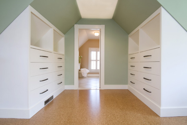 Renovation contemporary closet