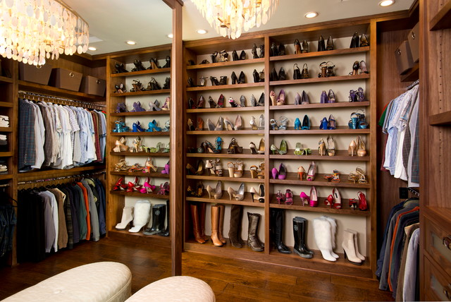 Charmant Inspiration For A Large Timeless Womenu0027s Dark Wood Floor Walk In Closet  Remodel In San