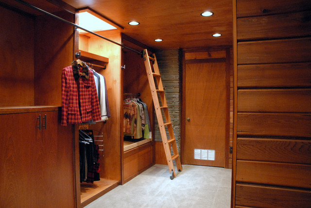 Rolling Library Ladder Traditional Wardrobe Milwaukee By