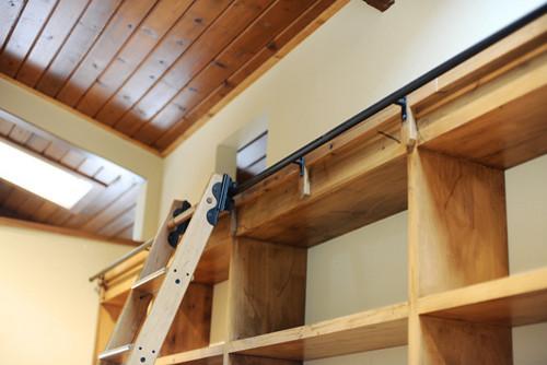Rolling Library Ladder Modern Closet