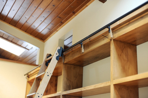Rolling Library Ladder - Modern - Closet - by Custom Service Hardware ...